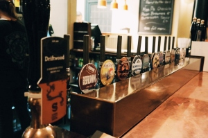 Wide selection of beer at The King & Co