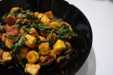 Homemade Spinach and Paneer