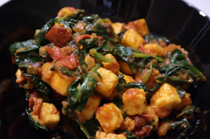Homemade Spinach and Paneer, recipe