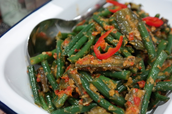 Sambal Belacan (spicy shrimp paste) Vege Medley